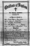 Baptism Certificate: Ann Marie Marchino