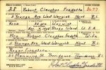 WWII Draft Card: Robert Cleophas Fredette