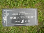 Gravestone: Addie May Willoughby (Crabtree)