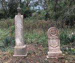 Gravestone: Rev Riley Jones & Nancy B Jones (Jones)