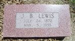 Gravestone: James Bracken Lewis