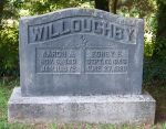 Gravestone: Aaron A Willoughby & Edney E Willoughby (Motley)