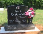 Gravestone: June J Kuykendall (Willoughby)
